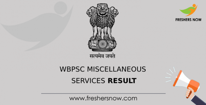 WBPSC Miscellaneous Services Result