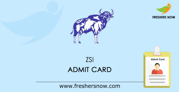 ZSI Admit Card