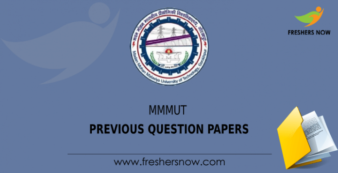 MMMUT MET Previous Question Papers