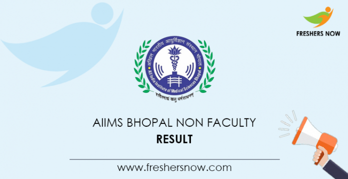 AIIMS Bhopal Non Faculty Result