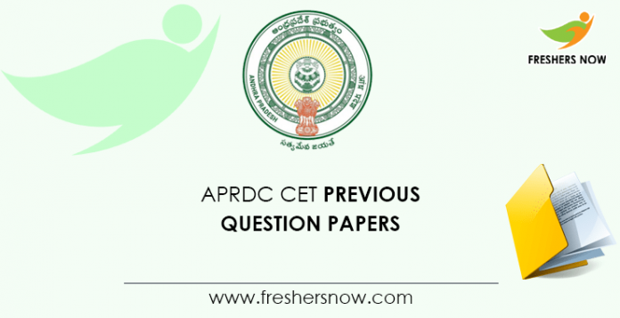 APRDC CET Previous Question Papers