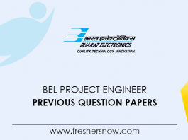 BEL Project Engineer Previous Question Papers