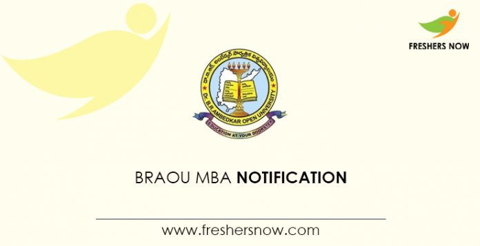 BRAOU MBA Notification