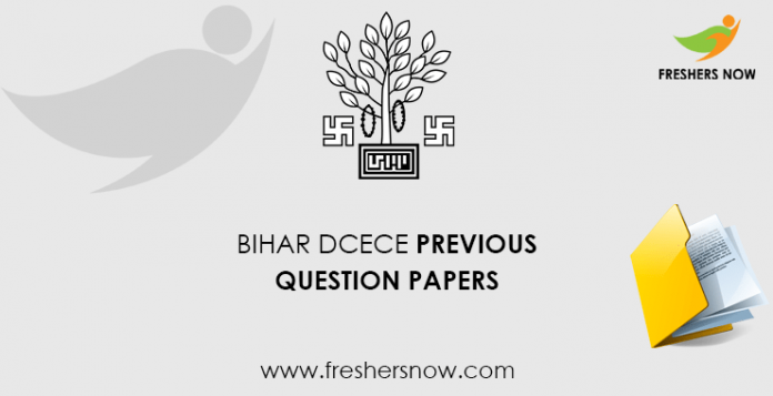 Bihar DCECE Previous Question Papers