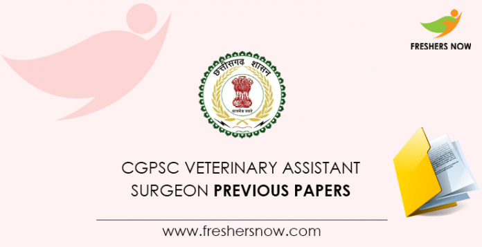 CGPSC Veterinary Assistant Surgeon Previous Questions Papers