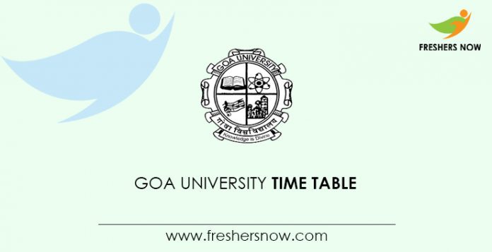 Goa University Time Table