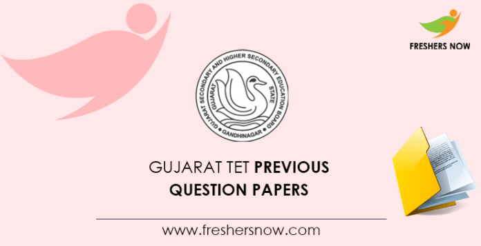 Gujarat TET Previous Question Papers