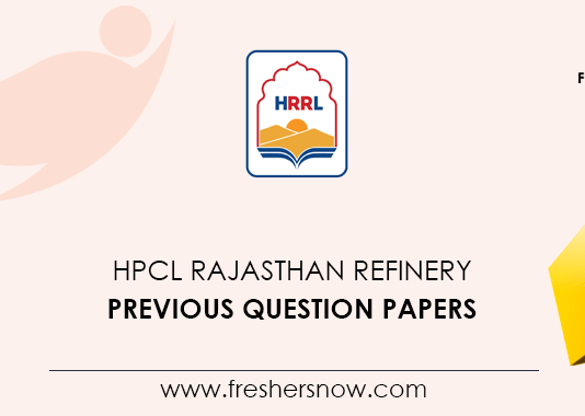 HPCL Rajasthan Refinery Previous Question Papers