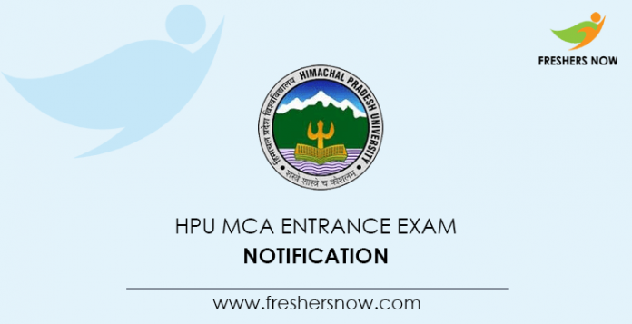 HPU MCA Entrance Exam 2020