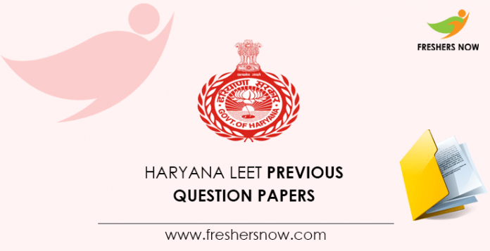 Haryana LEET Previous Question Papers