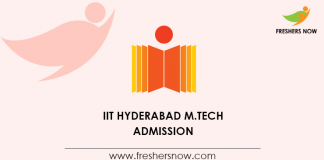 IIT Hyderabad M.Tech Admission