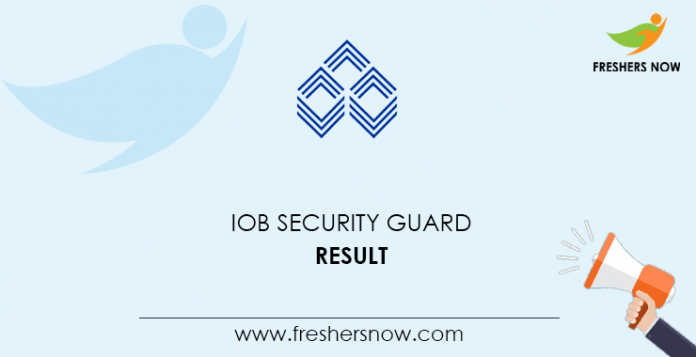 IOB Security Guard Result