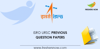 ISRO URSC Previous Question Papers