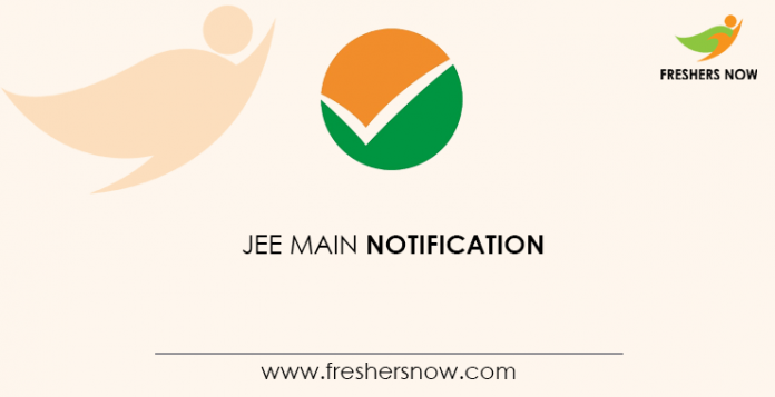 JEE Main Notification