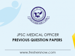 JPSC Medical Officer Previous Question Papers