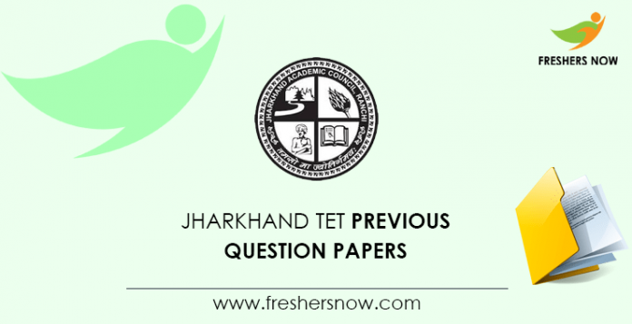 Jharkhand TET Previous Question Papers