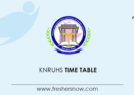 KNRUHS Time Table