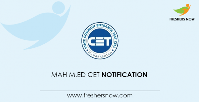 MAH M Ed CET Notification