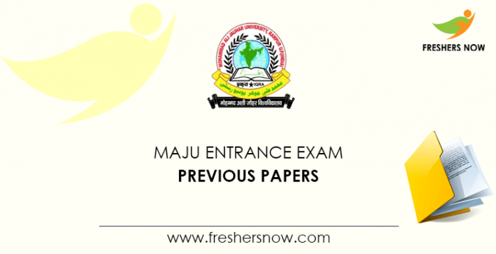 MAJU Entrance Exam Previous Question Papers