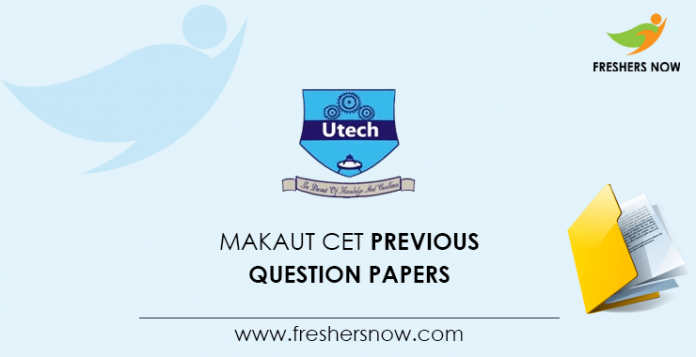 MAKAUT CET Previous Question Papers