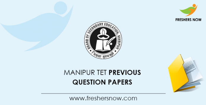 Manipur TET Previous Question Papers