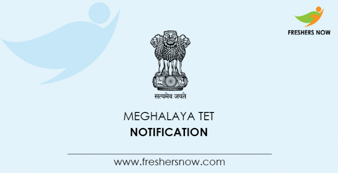 Meghalaya TET Notification
