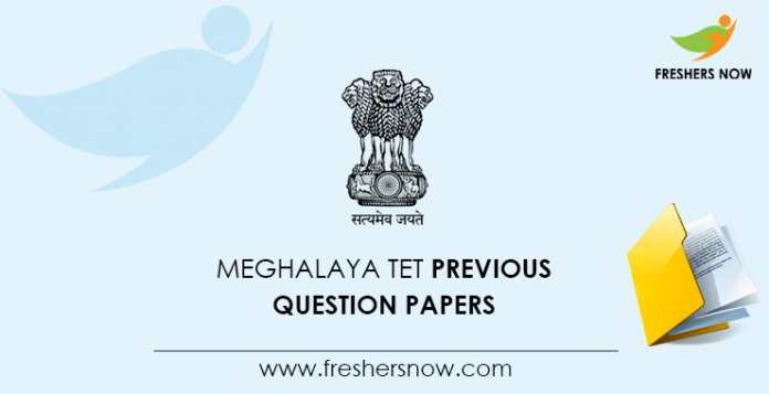 Meghalaya TET Previous Question Papers