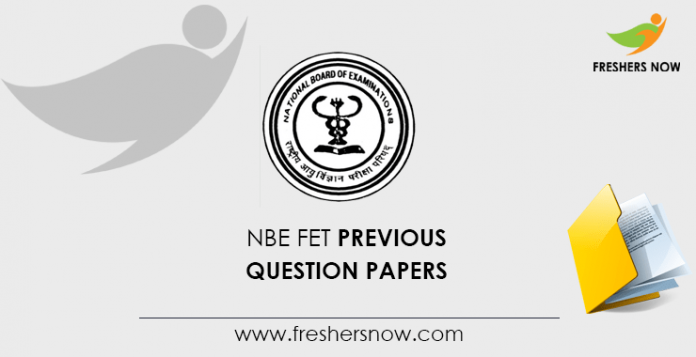 NBE FET Previous Question Papers