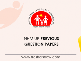 NHM UP Staff Nurse Previous Question Papers