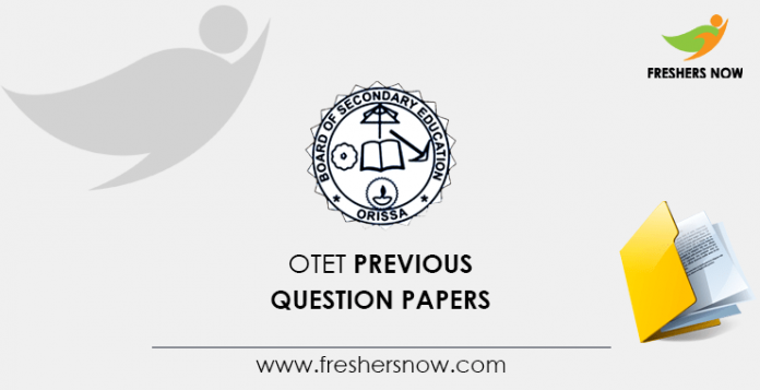OTET Previous Question Papers