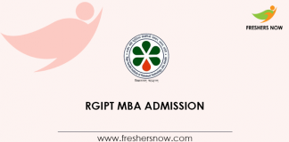 RGIPT MBA Admission