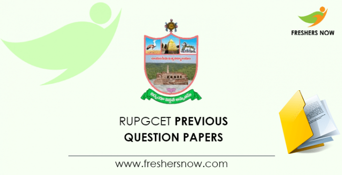 RUPGCET Previous Question Papers