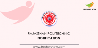 Rajasthan Polytechnic Notification