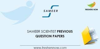 SAMEER Scientist Previous Question Papers