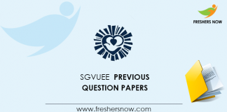 SGVUEE Previous Question Papers