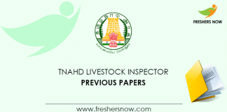 TNAHD Livestock Inspector Previous Papers