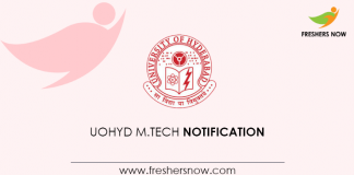 UOHyd M Tech Notification