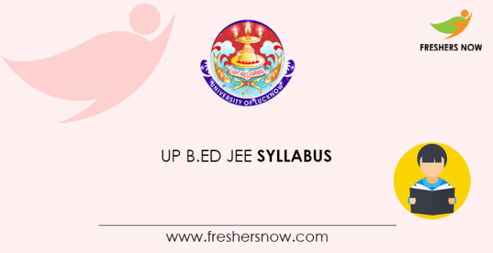 UP B Ed JEE Syllabus