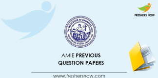 AMIE Previous Question Papers