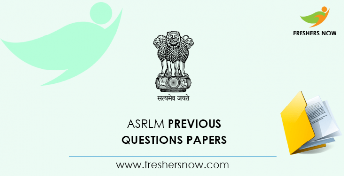 ASRLM Block Coordinator Previous Questions Papers