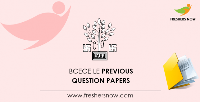 BCECE LE Previous Question Papers