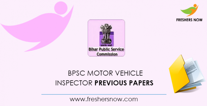 BPSC Motor Vehicle Inspector Previous Papers