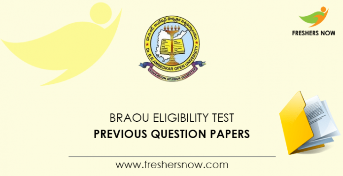 BRAOU Eligibility Test Previous Question Papers