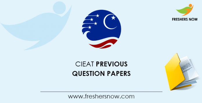 CIEAT Previous Question Papers