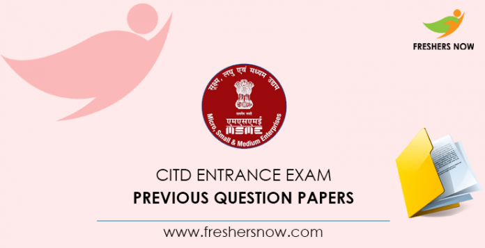CITD Entrance Exam Previous Question Papers
