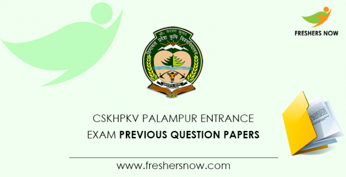 CSKHPKV Entrance Exam Previous Question Papers