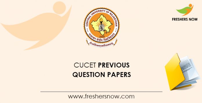 CUCET Previous Question Papers