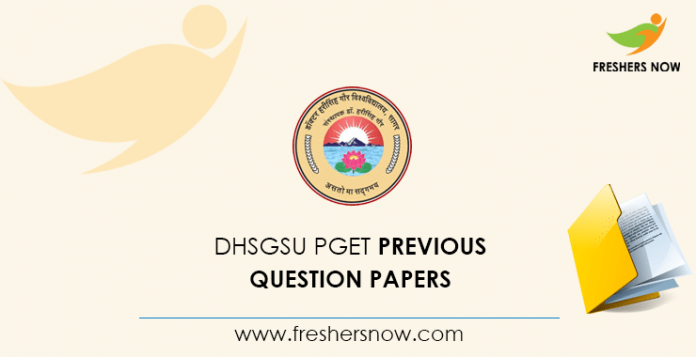 DHSGSU UGET Previous Question Papers