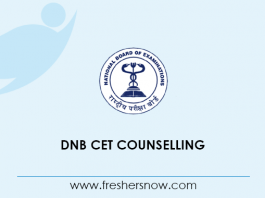 DNB CET Counselling