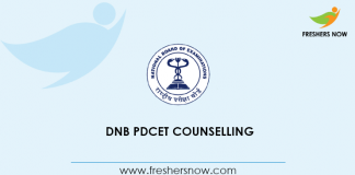 DNB PDCET Counselling